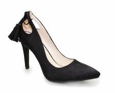 Lunar 'Carmel' Ladies Court Shoes (Black)