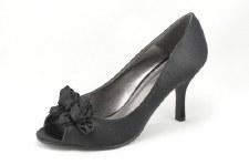 Lunar 'FLV060' Peep-Toe Shoe (Black)
