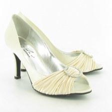 Lunar 'FLV132' Peep-Toe Occasion Shoe (Beige)