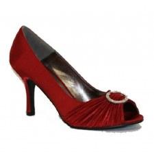 Lunar 'FLV132' Peep-Toe Occasion Shoe (Burgundy)