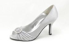 Lunar 'FLV132' Peep-Toe Occasion Shoe (Grey)