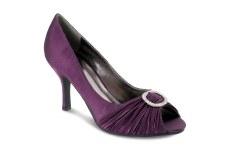 Lunar 'FLV132' Peep-Toe Occasion Shoe (Purple)