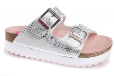 Pablosky '858150' Girls Sandals (White/Silver)