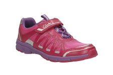 Clarks 'Pass Solar Jnr' Girls Trainers (Rose)
