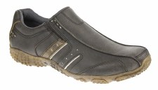Pod 'Ridge' Leather Shoe (Charcoal)