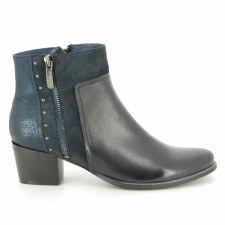 Regarde Le Ciel 'Isabel' Ladies Ankle Boots (Navy)