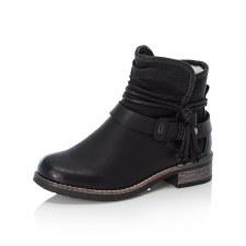 Rieker '94689' Ladies Ankle Boots (Black)