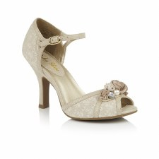 Ruby Shoo 'Clarissa' Ladies Heels (Cream/Gold)