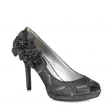 Ruby Shoo 'Donna' Ladies Heels (Pewter)