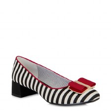 Ruby Shoo 'June' Ladies Shoes (Black/Red)