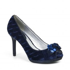 Ruby Shoo 'Sonia' Ladies Heels (Navy Velvet)