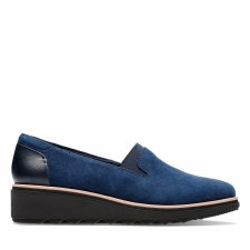 Clarks 'Sharon Dolly' Ladies Shoes (Navy Suede)
