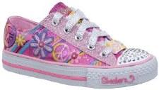 Skechers 'Twinkle Toes: Groovy Baby' Casual Sneakers (Hot Pink)