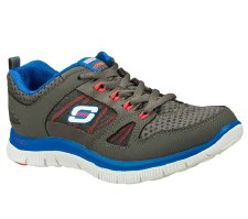 Skechers 'Flex Appeal-Adaptable' Ladies Sport Shoe (Grey/Blue)