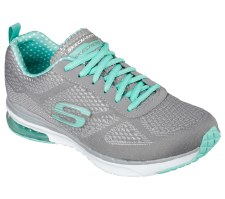 Skechers 'Skech-Air Infinity' Ladies Sport Shoe (Grey/Turquoise)