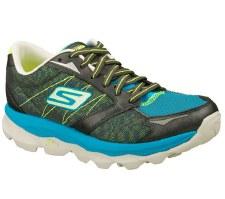 Skechers 'GoRun Ultra' Ladies Sport Shoe (Grey/Turquoise)