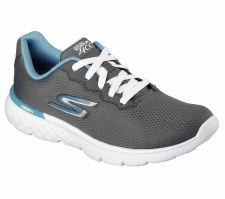 Skechers 'GoRun 400' Ladies Trainers (Grey/Blue)