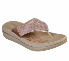 Skechers 'Upgrades - Stone Cold' Ladies Sandals (Rose Gold)