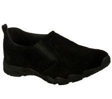 Skechers 'Relaxed Fit: Endeavor-Atmosphere' Ladies Shoe (Black Suede)