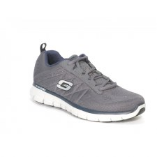 Skechers 'Synergy - Power Switch' Mens Trainers (Grey/Navy)