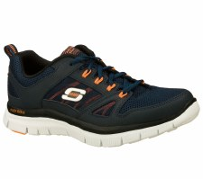 Skechers 'Flex Advantage' Mens Trainers (Navy/Orange)