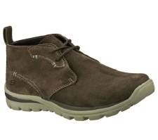 Skechers 'Relaxed Fit: Superior Up Word' Mens Boot (Grey)
