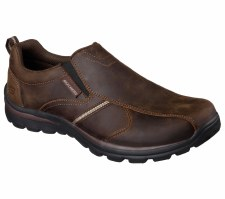 Skechers 'Relaxed Fit: Superior - Misko' Mens Shoes (Brown)
