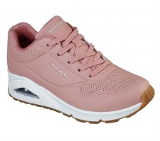 Skechers 'Street Uno - Stand On Air' Ladies Trainers (Rose)