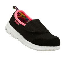 Skechers 'Go Walk' Girls Walking Shoes (Black/Pink)