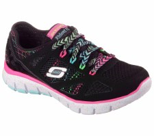 Skechers 'Relaxed Fit - S Flex Fashion Play' Girls Trainers (Black Multi)