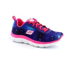 Skechers 'Skech Appeal - Colour Clash' Girls Trainers (Blue/Pink)