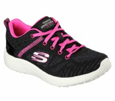 Skechers 'Burst' Girls Trainers (Black/Hot Pink)