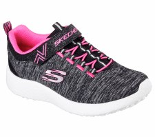 Skechers 'Burst - Equinox' Girls Trainers (Black/Hot Pink)