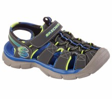Skechers '92187' Boys Sandal (Charcoal/Blue)