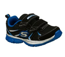 Skechers 'Speedees- Burn Outs' Boys Shoes (Black/Royal)