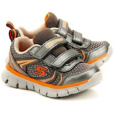 Skechers 'Synergy - Mini Sprint' Boys Trainers (Gunmetal/Orange)