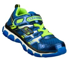 Skechers 'X-Cellorator' Boys Sport Shoes (Blue/Lime)