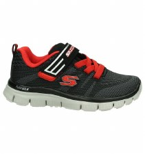 Skechers 'Flex Advantage - Master Mind' Boys Trainers (Black/Red)