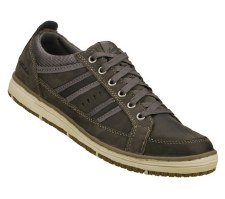 Skechers 'Irvin-Hamal' Mens Lace-Up Shoes (Charcoal)