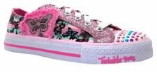 Skechers 'Twinkle Toes 83609' Casual Sneaker (Pink/Multi)