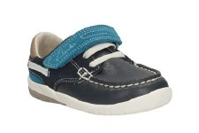 Clarks 'SoftlyFlag Inf' Boys Shoes (Navy Combi)