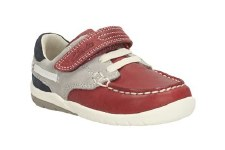 Clarks 'SoftlyFlag Inf' Boys Shoes (Red Combi)