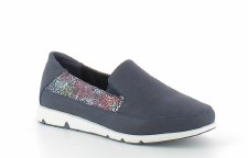 Heavenly Feet 'Charly' Ladies Shoes (Navy)