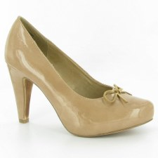 Tamaris '22418' Court Shoes (Nude Patent)