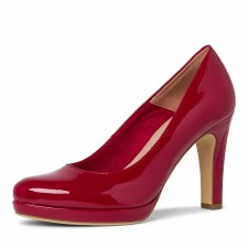 Tamaris '22426' Ladies Court Shoe (Red Patent)