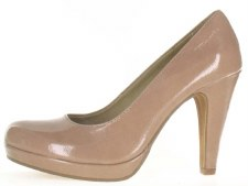 Tamaris '22426' Ladies Court Shoe (Nude Patent)