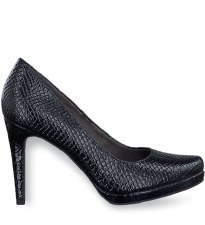 Tamaris '22448' Ladies Heels (Black Croc)