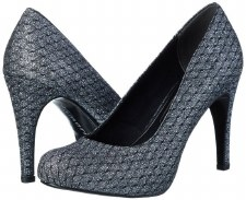 Tamaris '22459' Ladies Heels (Pewter Glitz)