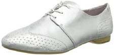 Tamaris '23205' Ladies Brogues (Silver)