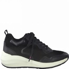 Tamaris '23753' Ladies Trainers (Black/White)